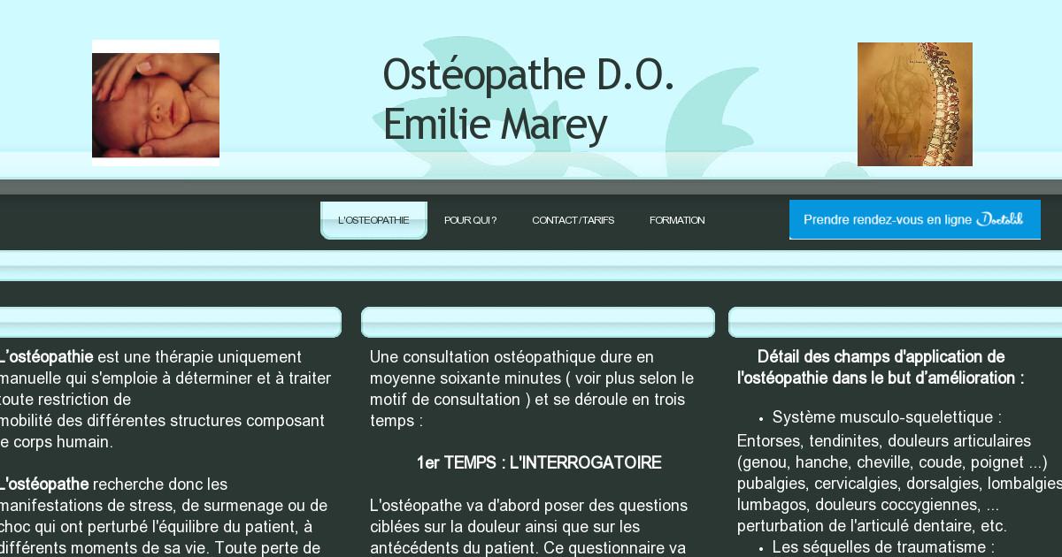 Ostéopathe Emilie Marey - POUR QUI ?
